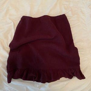 La hearts burgundy mini skirt